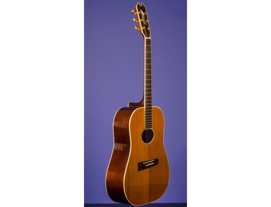 1977 D'Aquisto Flat-Top Delux Dreadnought Acoustic Guitar