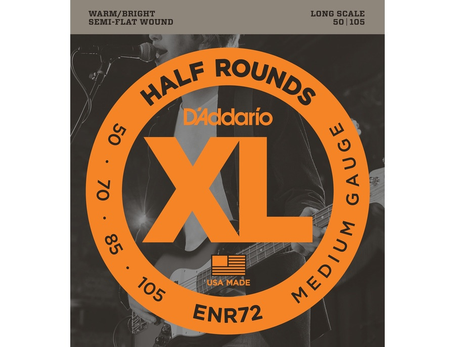 D'Addario ENR72 Half Round Bass Strings