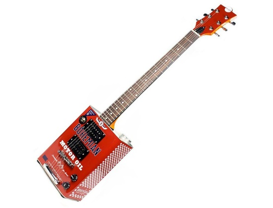 Bohemian Boho Motor Oil Electric Guitar