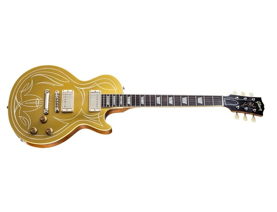 Gibson Billy Gibbons Custom Shop Pinstripe Les Paul Gold Top Electric Guitar
