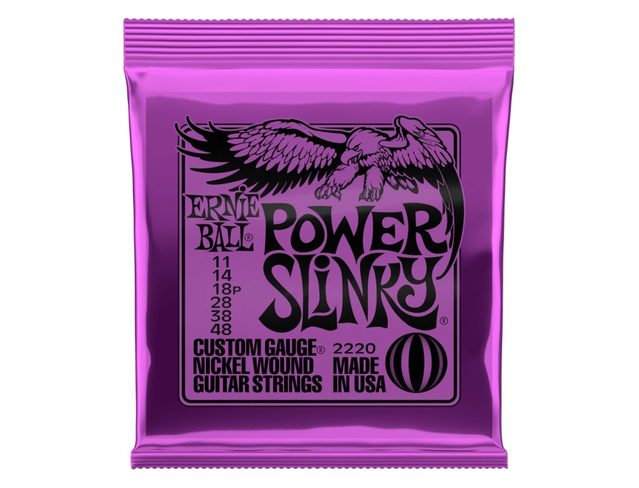 Ernie ball power slinky guitar strings 11 48 xl