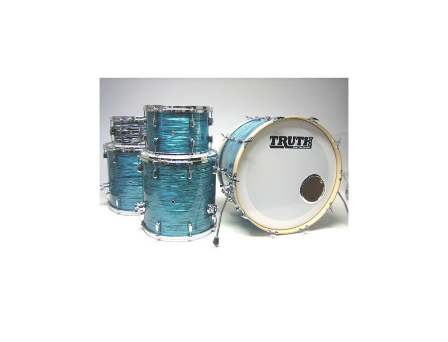 Truth Custom Turquoise Glass Vintage Drum Kit