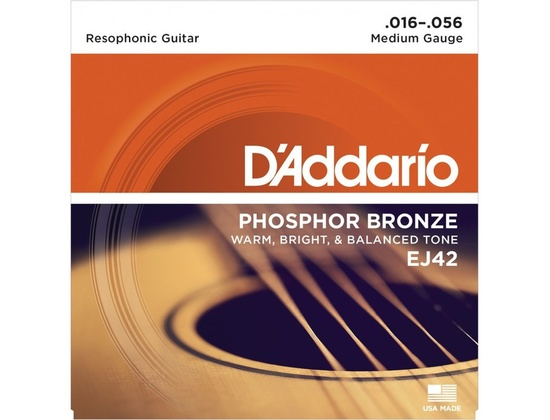 D'Addario EJ42 Phosphor Bronze ( Resophonic Guitar )
