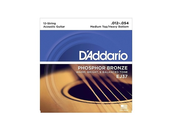 D'Addario EJ37 Phosphor Bronze (12 Strings)