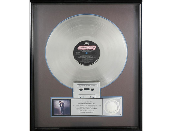 RIAA Platinum Sales Award - Robert Cray - Strong Persuader