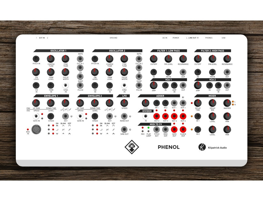 PHENOL - Patchable Analog Synthesizer