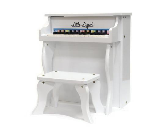 Little Legends LLSP25TWH 25-Key Upright Piano