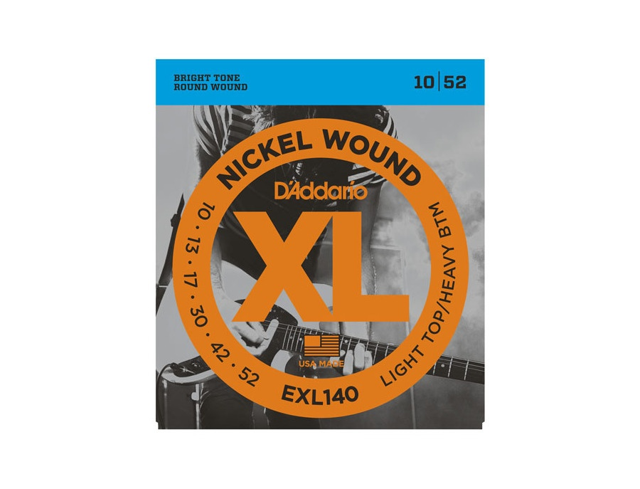 D'Addario EXL140 Nickel Wound, Light Top/Heavy Bottom, 10-52