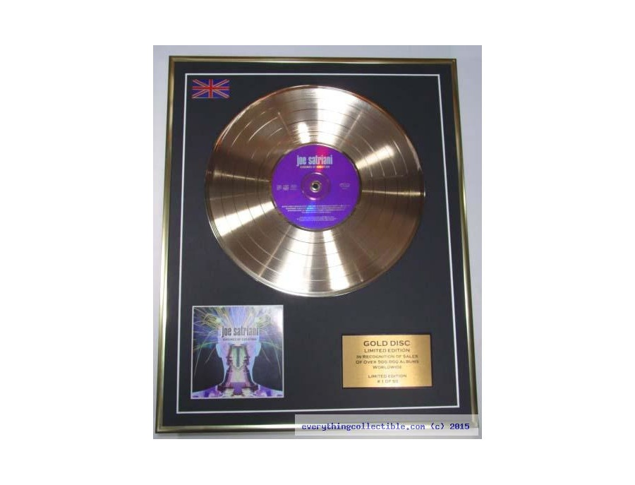 IFPI Worldwide Gold Sales Award - Joe Satriani - Engines of Creation