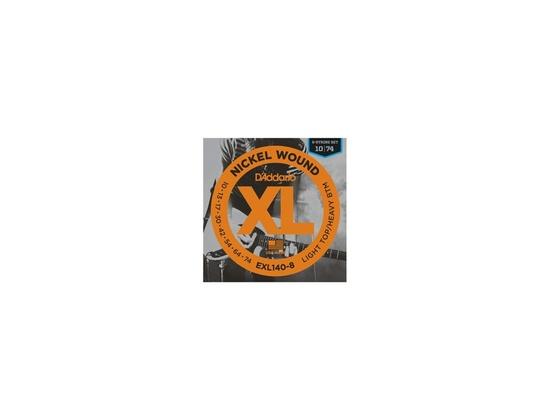 D'Addario EXL140-8 Nickel Wound, 8-String, Light Top/Heavy Bottom, 10-74