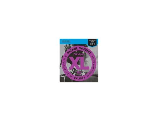 D'Addario EXL120-7 Nickel Wound, 7-String, Super Light, 9-54