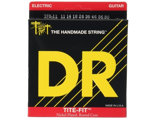 DR Strings TF8-11 8 String Tite-Fit Nickel Plated Heavy Electric Guitar