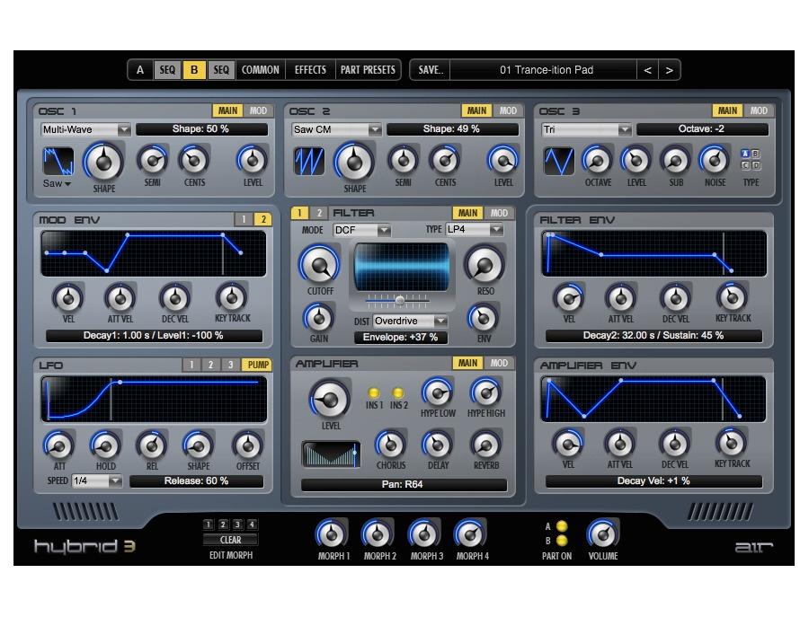 Air music technology hybrid 3 xl