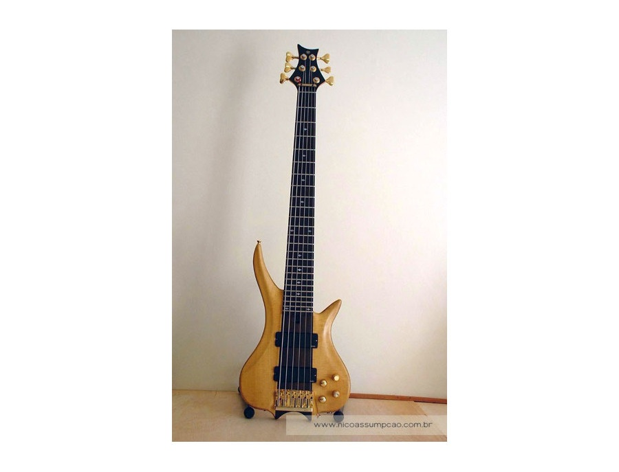 Wood 6 Strings Bass Guitar