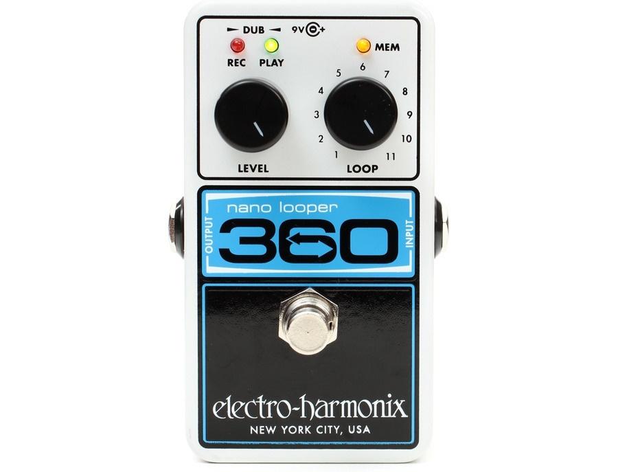 Electro harmonix nano looper 360 pedal looper xl