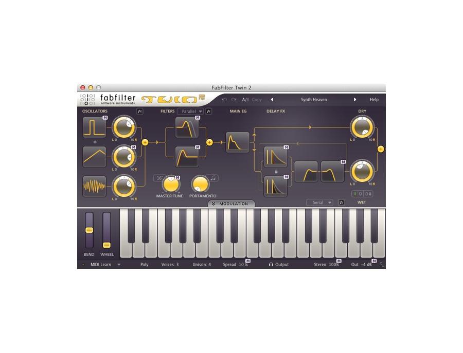 Fabfilter twin 2 synthesizer plugin xl