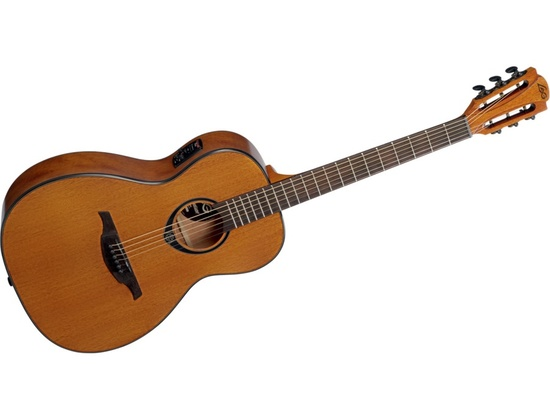 Dashing Lag Tramontane T270pe Parlor Satin Acoustic Electric Guitar Guitars & Basses Musical Instruments & Gear