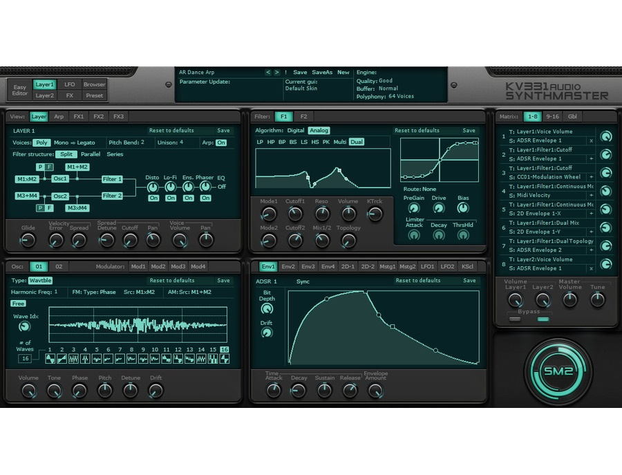 KV331 Audio SynthMaster Software Synthesizer