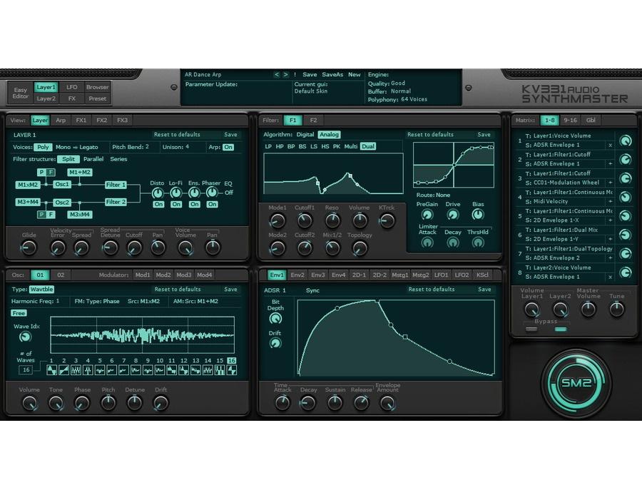 Kv331 audio synthmaster software synthesizer xl