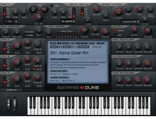 Synapse Audio Software Dune Software Synthesizer