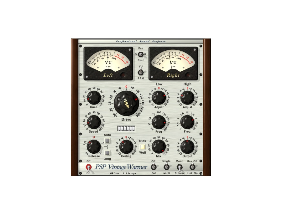 Psp vintagewarmer2 software compressor limiter plugin xl