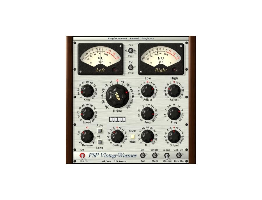 PSP VintageWarmer2 Software Compressor/Limiter Plugin