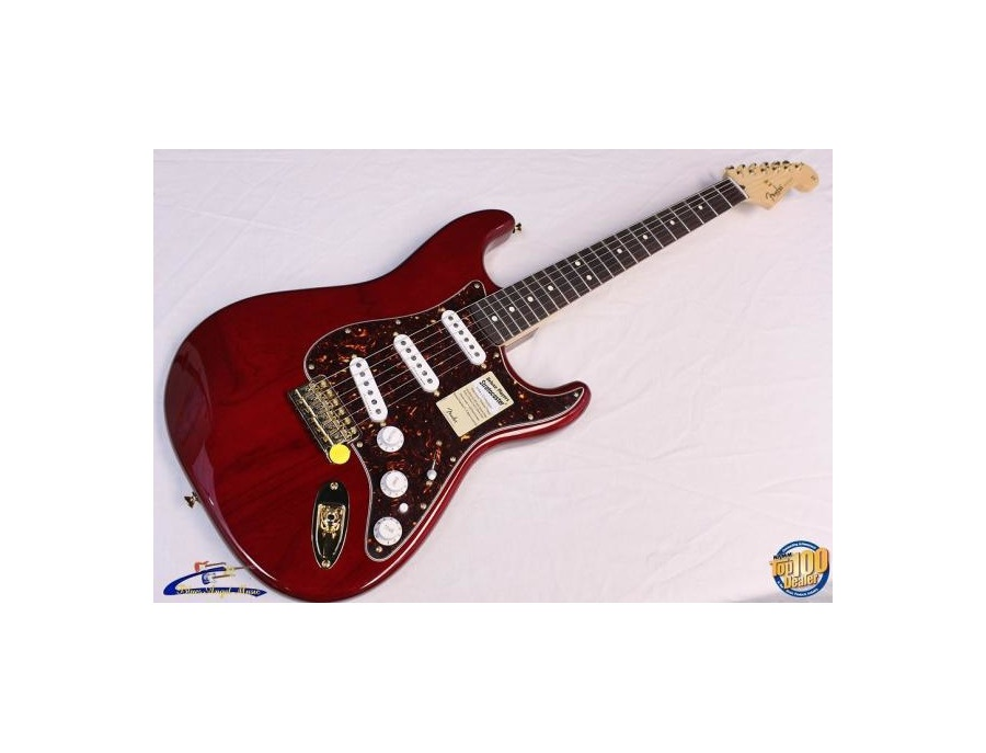 fender stratocaster deluxe players crimson red