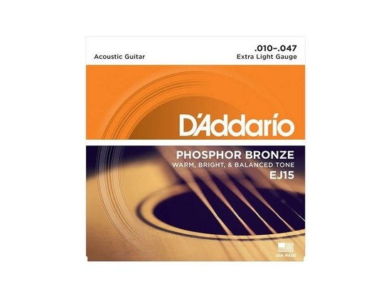 D'Addario EJ15 Phosphor Bronze Acoustic Guitar Strings