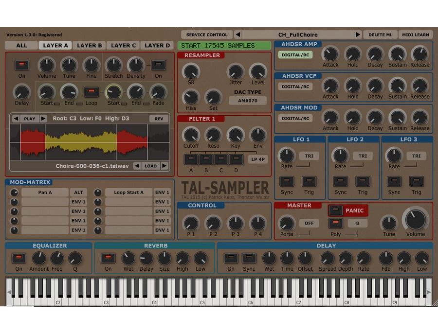 TAL-Togu Audio: Sampler