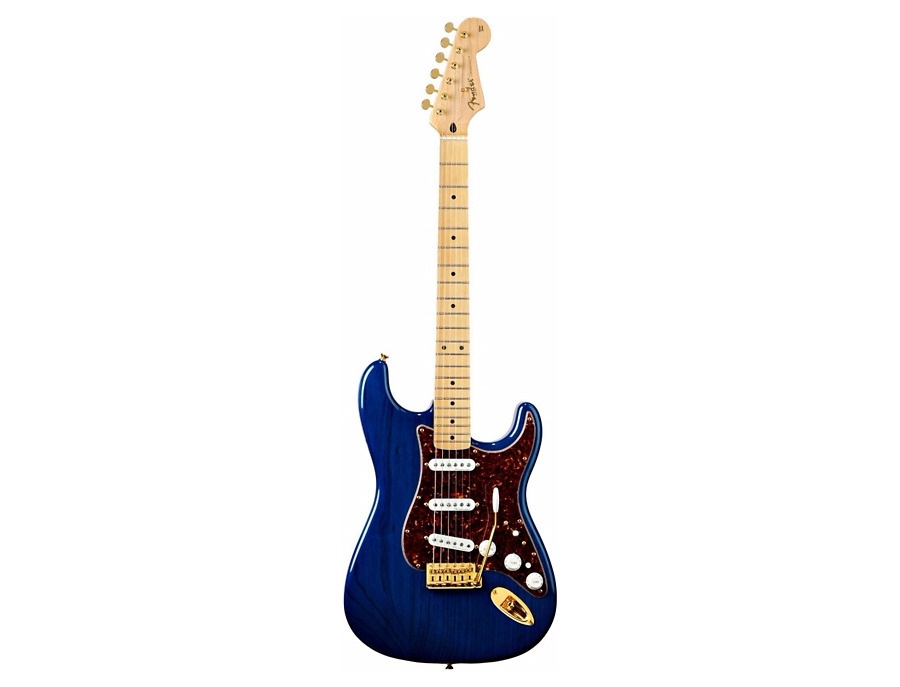 Fender Deluxe Player's Stratocaster Electric Guitar Sapphire Blue Transparent Maple Fretboard