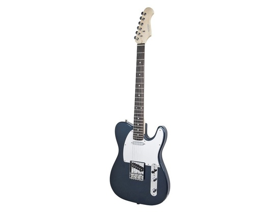Monoprice Retro Vision Solid Body Electric Guitar - Metallic Blue