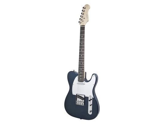 Monoprice Retro Vision Solid Body Electric Guitar - Metallic Blue