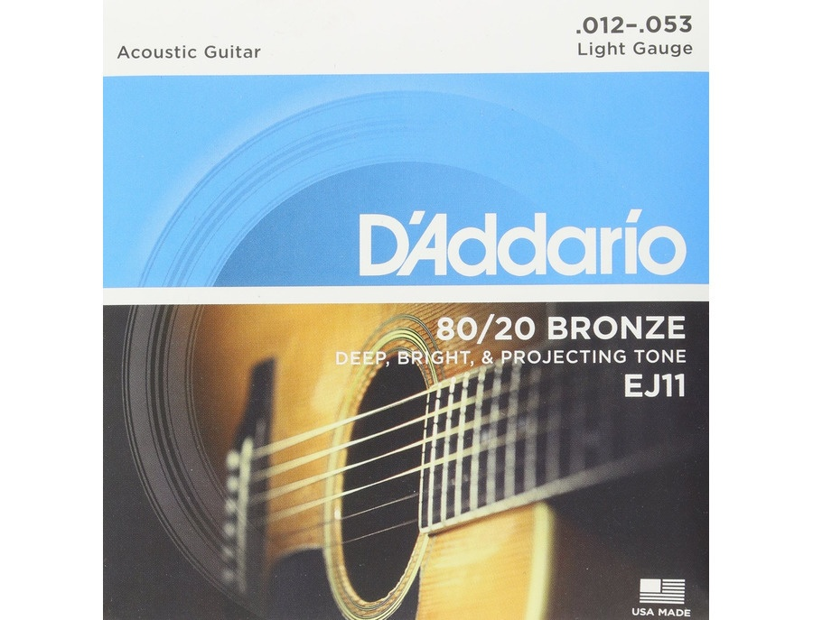 D'Addario EJ11 80/20 Bronze Acoustic Guitar Strings