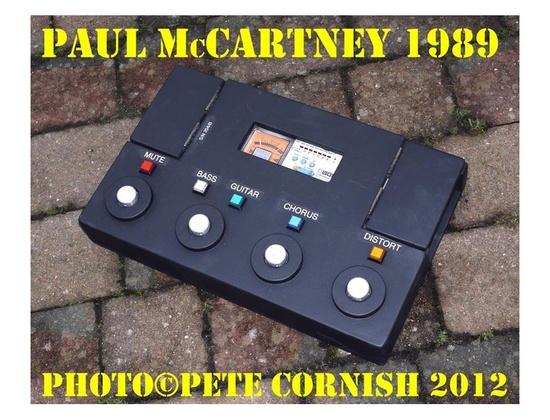Pete Cornish Custom Paul McCartney Pedalboard