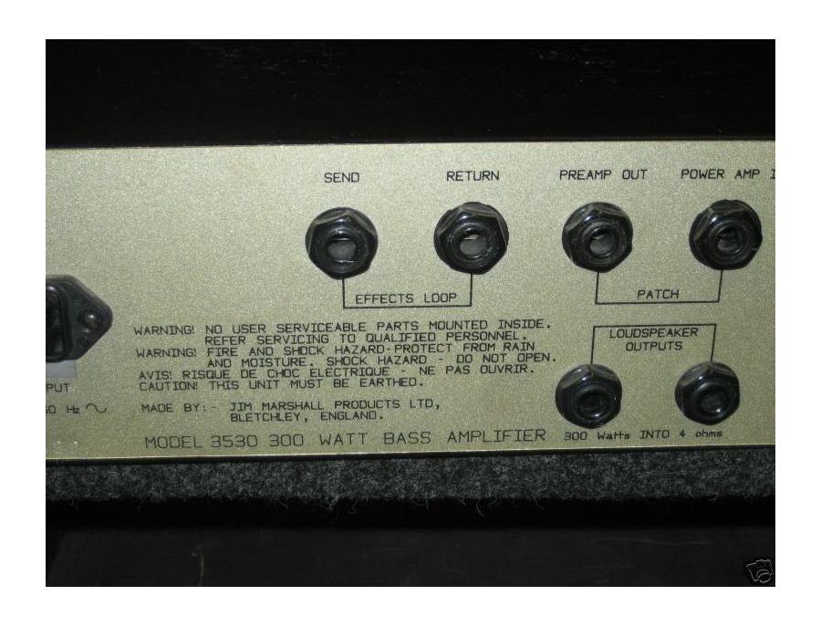 Marshall 3530 bass amplifier 300 watts