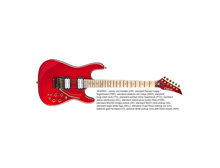 Carvin jb200c NFL guitar
