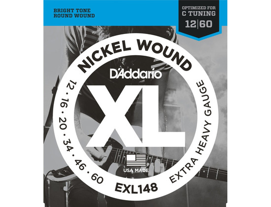 D'Addario EXL148 Nickel Wound, Extra-Heavy Electric Guitar Strings (12-60)