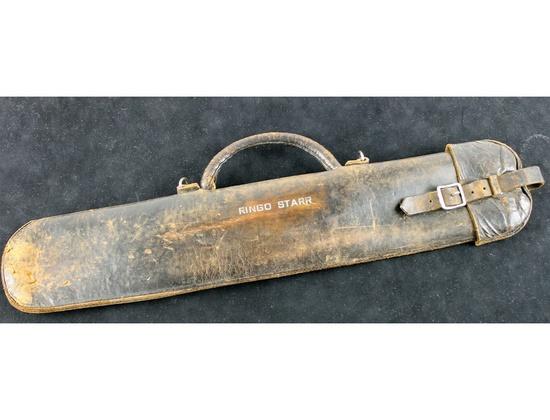 Vintage Engraved Leather Stick Bag