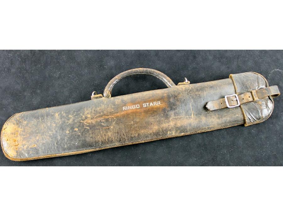 Vintage engraved leather stick bag xl