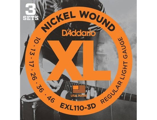 D'Addario EXL110-3D Nickel Wound Electric Guitar Strings