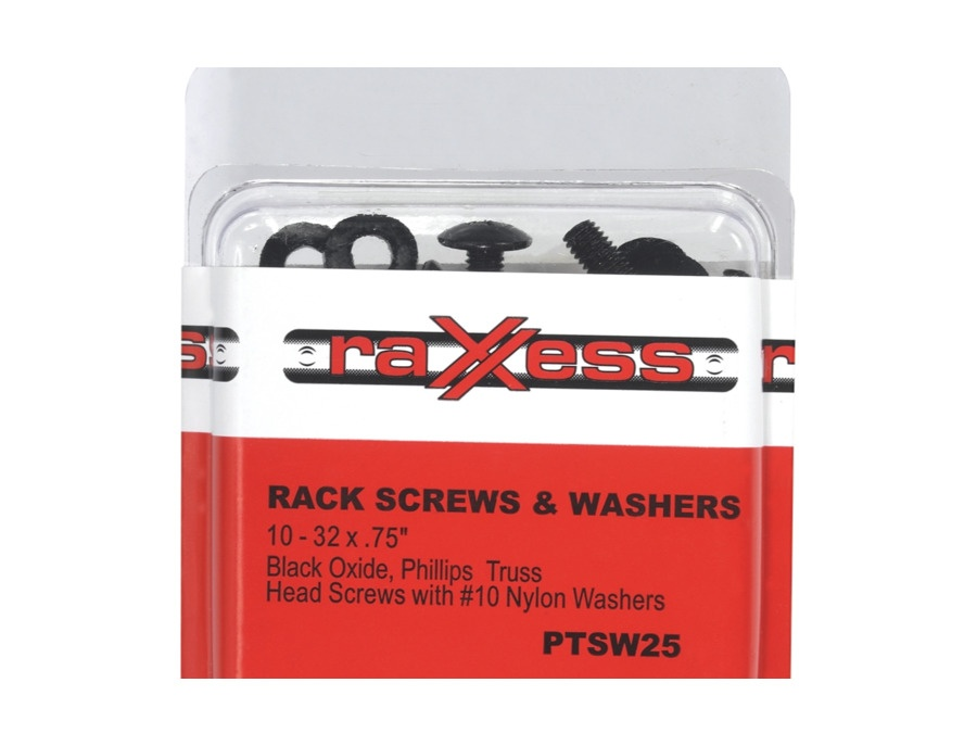 Raxxess black rack screws and washers