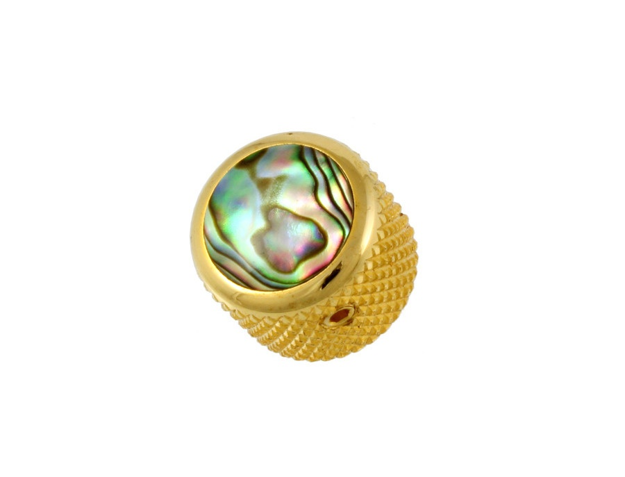 Q-Parts dome gold abalone shell knob