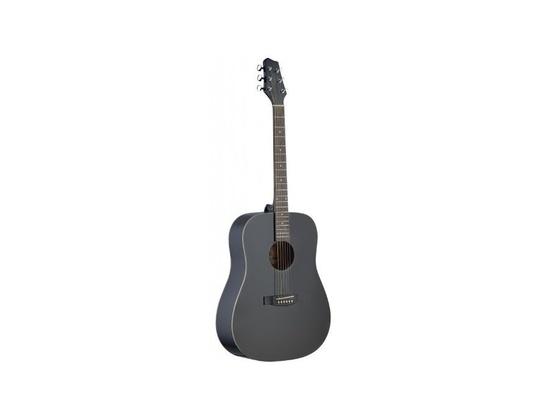 Stagg SA30D-BK Dreadnought Acoustic Guitar with Linden Top - Matte Black