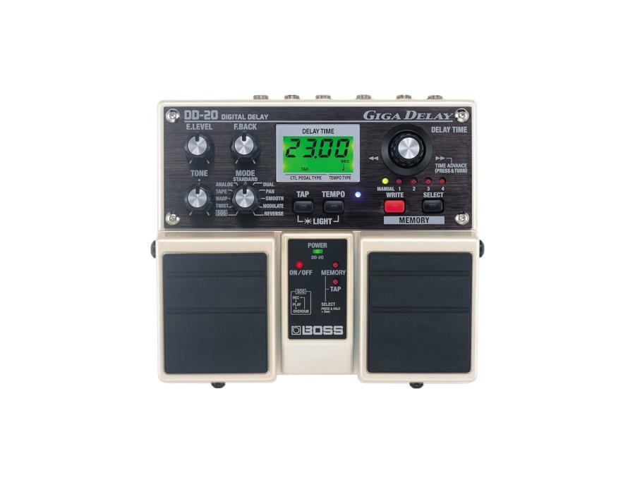 Boss dd 20 giga delay digital delay pedal xl