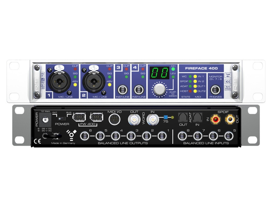 Rme fireface 400 firewire computer recording interface xl