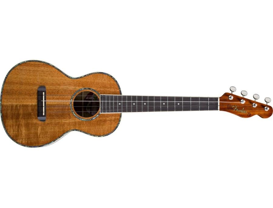 Fender Nohea Tenor Shape  Tele Headstock  All Koa Ukulele