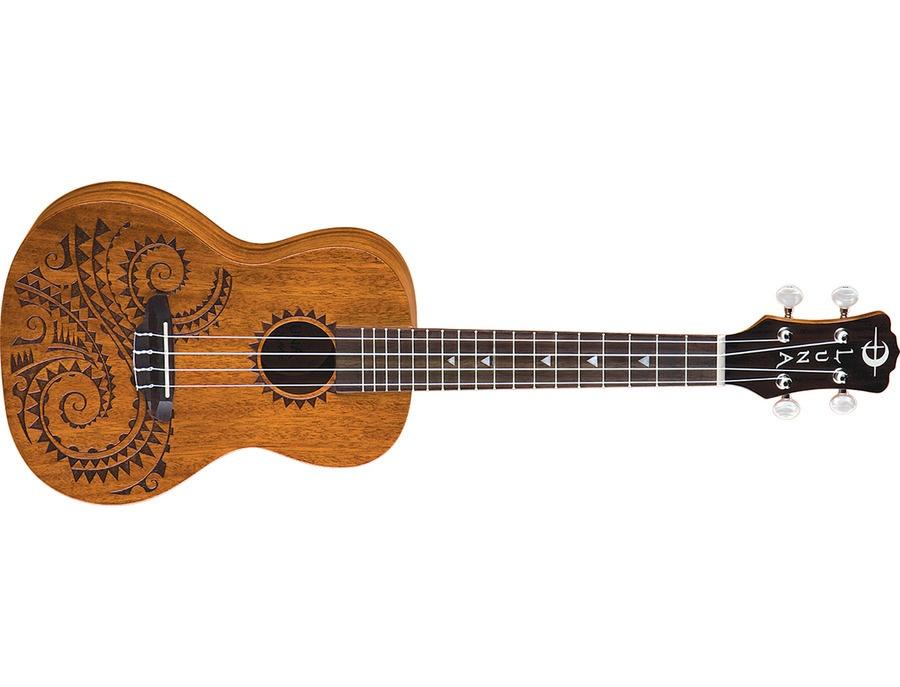Luna mahogany series tattoo concert ukulele xl