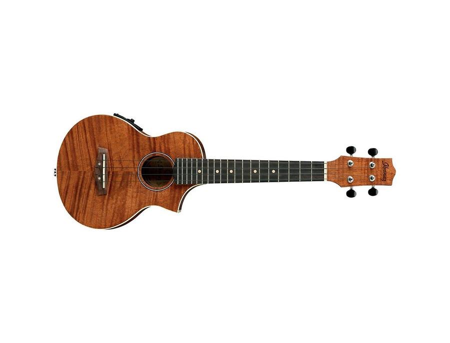 Ibanez uew15e flame mahogany concert acoustic electric ukulele xl