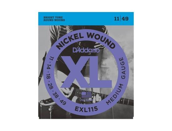 D'Addario Nickel Wound Medium Electric Guitar Strings (11-49)