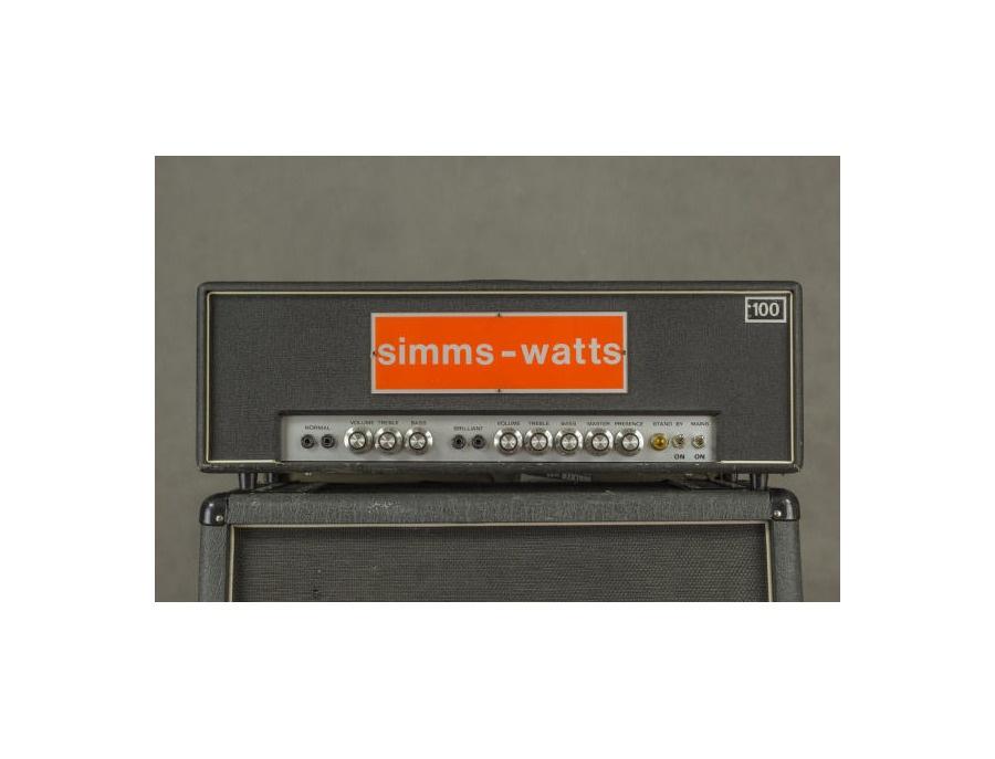 Rosewell Custom 100W head (Simms-Watts replica)